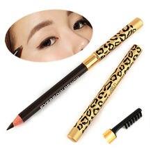 Wholesale 1PC Perfect Waterproof Longlasting Eyeliner Double Use Eyebrow Eye Brow Pencil Brush Makeup Free Shipping