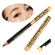 Wholesale 1PC Perfect Waterproof Longlasting Eyeliner Double Use Eyebrow Eye Brow Pencil Brush Makeup na214