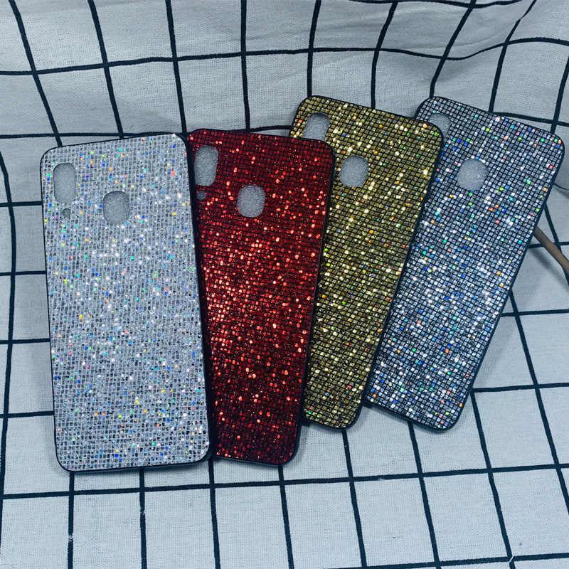 Bling brillo de parachoques suave duro caso para cubrir Samsung A10 A30 A50 A70 A20 M10 M20 M30 S8 S9 más S10 brillante teléfono Capa Coque