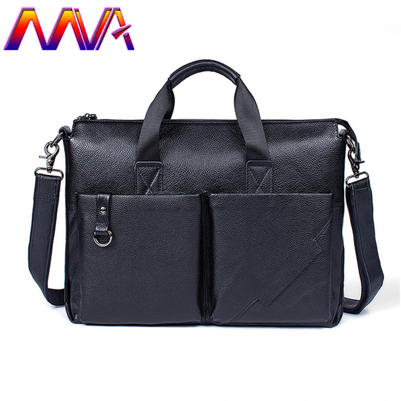MVA 2018 Newly Genuine leather men shoulder bag with quality cow leather men briefcase for laptop briefcase bag men handbag 100% genuine leather men bag brand designed men laptop briefcase business bag cow leather men handbag shoulder bag messenger bag