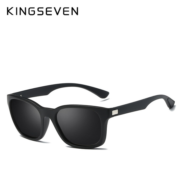 KINGSEVEN 2017 Classic Fashion Polarized Black Sunglasses Men Eyewear For Driving Fishing Square Sun Glasses With Box Gafas 1