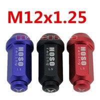 3 Colors M12x1.25 EXTENDED rèn nhôm Tuner RACING LUG bộ nut cho Honda Mazda Hyundai