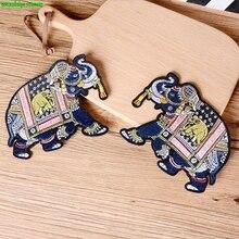 Новая высококачественная вышивка ручной работы с аппликацией слона по шитью DIY 1 заказ = 1 пара