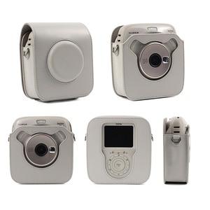 Image 2 - עבור Fujifilm Instax כיכר SQ10 SQ20 מיידי סרט תמונה מצלמה שחור/בז /חום עור מפוצל לשאת תיק מקרה עם כתף רצועה