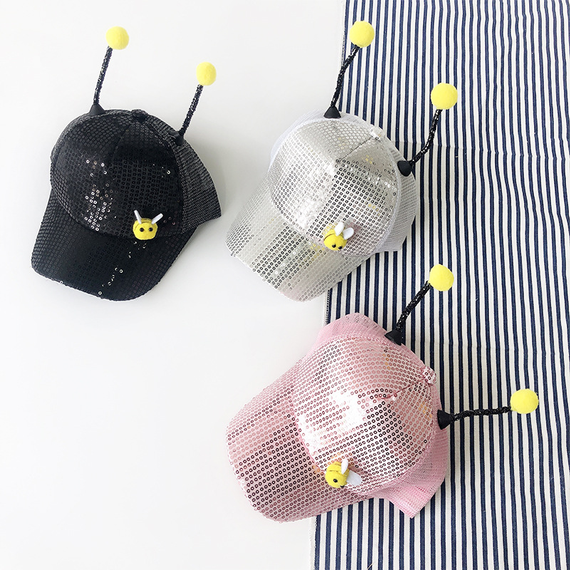Men's Hats Apparel Accessories United 10pcs/lot 01903-pan099 Summer Lovely Cartoon Bees Perform Children Baseball Hat Boy Girl Leisure Cap Wholesale Curing Cough And Facilitating Expectoration And Relieving Hoarseness