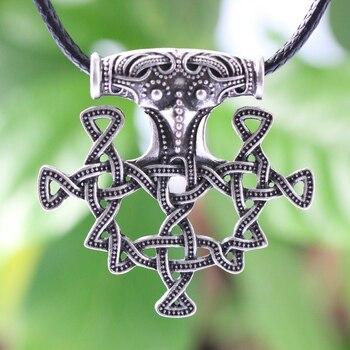 0bbd12ab0432 LANGHONGNorse vikingos amuleto colgante collar nórdico encanto Hiddensee  Thor martillo escandinavo colgante collar joyería talismán