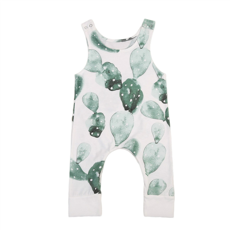 Pudcoco Baby Girl Rompers Newborn Baby Boy Clothes Infant Jumpsuit cactus Printed Body Baby Boys Girls Custome Summer Romper