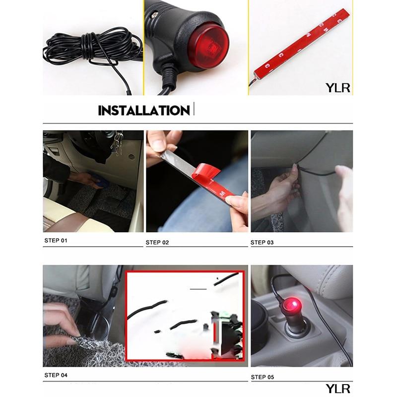 1set Car Light Neon Lamp For Mazda 3 6 Mercedes Opel Astra H Kia Rio Skoda Octavia Audi A4 B6 Peugeot 206 VW Accessories