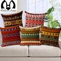Lençóis de algodão do Vintage áfrica geometria tarja aceno capa de almofada bohemian fronhas decorativas sofá almofadas produto bege
