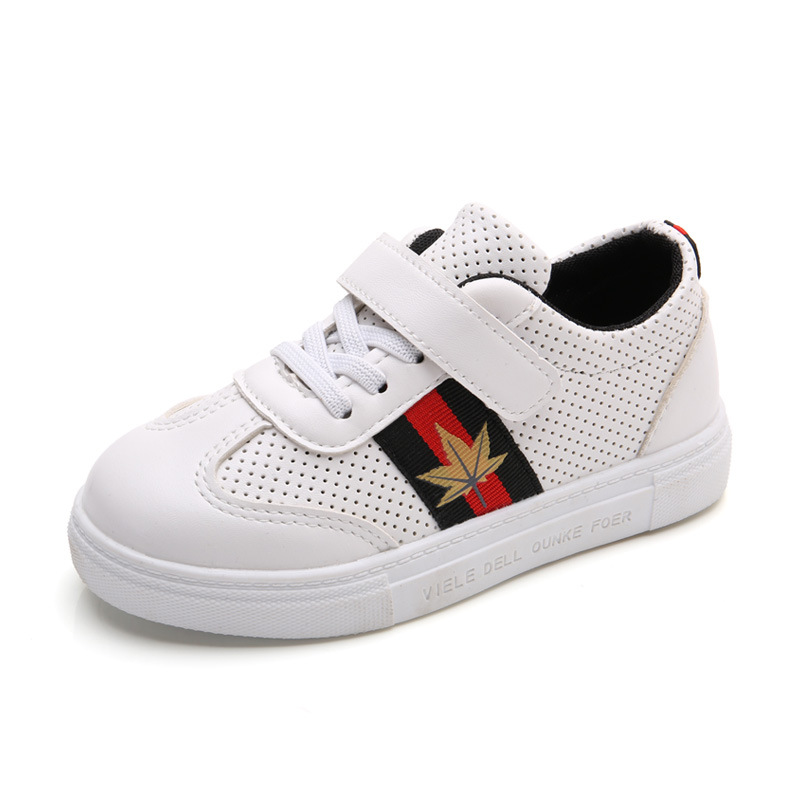 MLUCKY 2017 New Autumn Children Sneakers Girls Sports Shoes Boys White Sneakers School Shoes Kids Sneaker 75