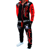 ZOGAA 2019 Brand Men Tracksuit 2 Piece Tops and Pants Mens Sweat Suits Set Letter Print Plus Size Jogger Sets for Men Clothing