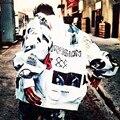 Bigbang GD Harajuku Стиль Бейсбол Куртка Женщин, Вскользь Куртку, Casacos, Печати Пальто Бомбардировщиков, Толстовка Верхняя Одежда Пальто C2171