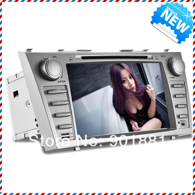 NEW  8 inch camry car dvd 2007-2011 WINCE6.0 Map GPS HD Multi-language OSD 1080P WIFI RDS TV  BT Steering Wheel Colorful buttons