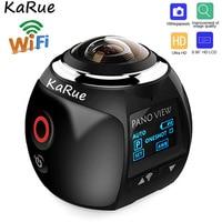KaRue V1 camera Action Camera Wifi 2448*2448 Ultra HD Mini Panorama Camera 360 Degree Sport Driving VR Camera