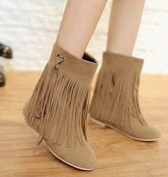5a681892473f winter women boots 2015 preppy style flat tassel ankle boots small 32 33  plus size 44 45 Increased within student causal boots