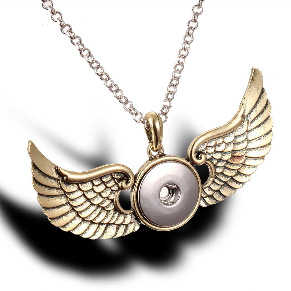 snap button Necklace Jewelry Guardian Sword 18mm snap Jewelry Necklaces Silver Snap Necklace for women