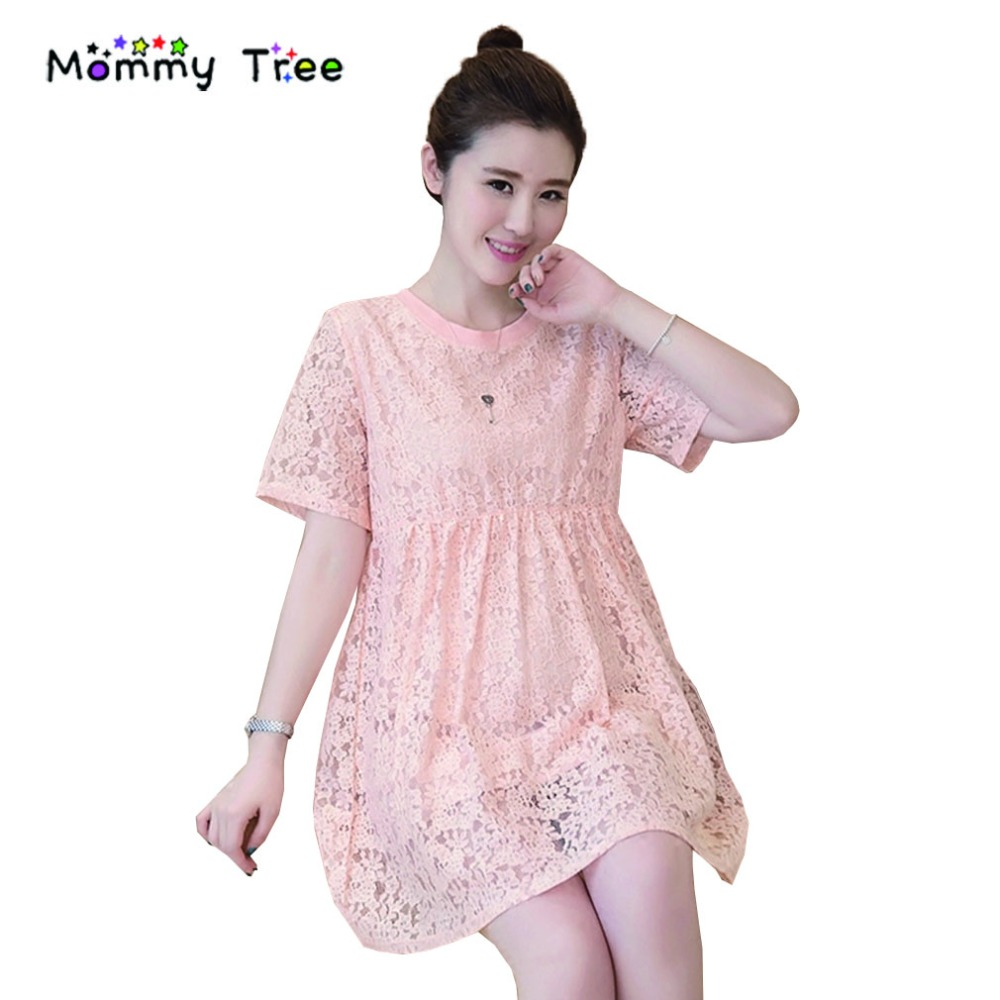Online get cheap lace maternity dresses pink aliexpress elegant pink lace maternity dress summer loose casual maternity dresses for pregnant women short ombrellifo Image collections