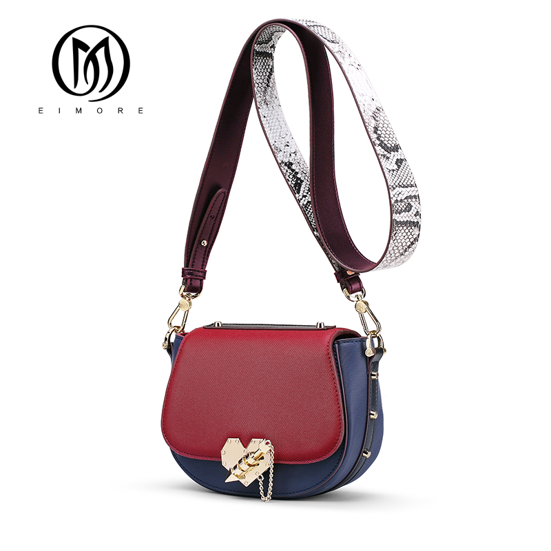 EIMORE Shoulder Bag Women Genuine Leather Women Messenger Bags With Heart shaped Lock High Quality Designer