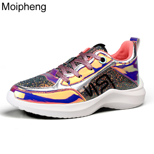 Moipheng 2019 Woman White Sneakers Mixed Colors Casual Pink Ladies Vulcanized Shoes Fashion Summer Sneakers Zapatos De Mujer