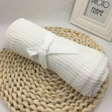 все цены на High Quality Baby Blankets Cotton Crochet Newborn Baby Blanket Cellular Blanket Autumn Casual Sleeping Bed Supplies Hole Wrap онлайн