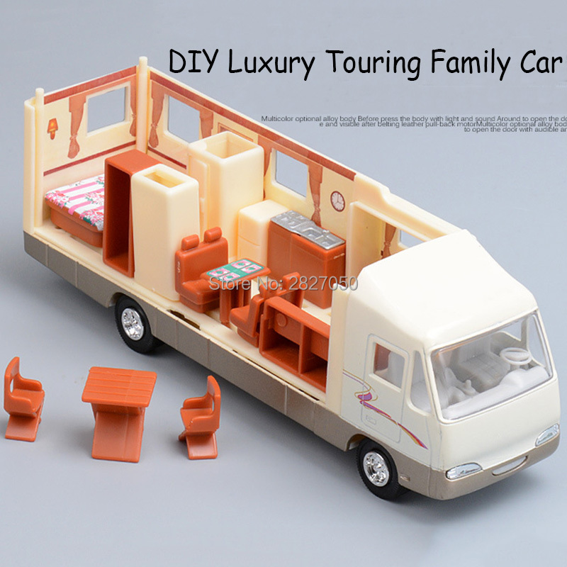 Luxurious Plastic And Alloy Movable Touring car toys DIY Furniture baby puzzles Early Educational toy cars for kids children шины michelin latitude tour hp 225 65 r17 102h