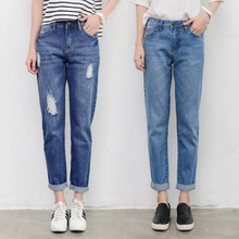 Mom Jeans High Waisted Vintage Ripped Denim Jeans Pants For Women Jeans Boyfriend Distressed Stretch Ladies Trousers Plus Size fashion high waisted beading ripped jeans for women