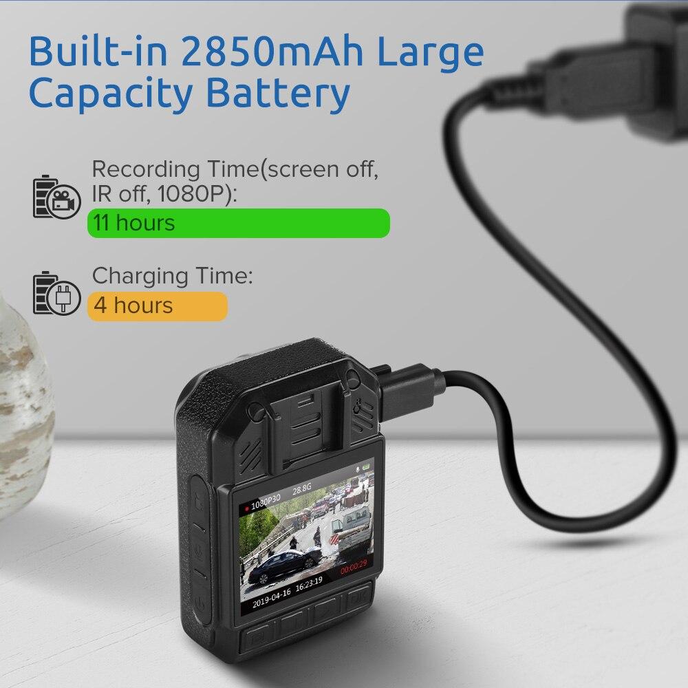 Boblov KJ21 corps porté caméra HD 1296P DVR enregistreur vidéo caméra de sécurité 170 degrés IR Vision nocturne Mini caméscopes - 3