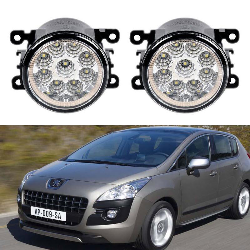 Car-Styling For Peugeot 3008 2008-2016 9-Pieces Led Fog Lights H11 H8 12V 55W Fog Head Lamp car styling for dacia renault sandero 2010 2016 9 pieces leds chips led fog light lamp h11 h8 12v 55w halogen fog lights