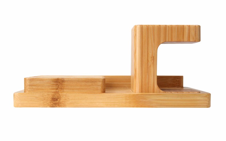 For iPhone Apple iWatch Wood Charge Holder (10)