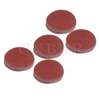 CNBTR 100PCS 115mm Aluminium Oxide Round Disc Sandpaper 60 80 120 180