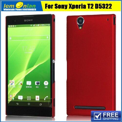10 видов цветов Прорезиненные Жесткий кожи чехол для Sony Xperia T2 ультра D5303 D5306 ultra Dual D5322 пластик тонкий Чехол