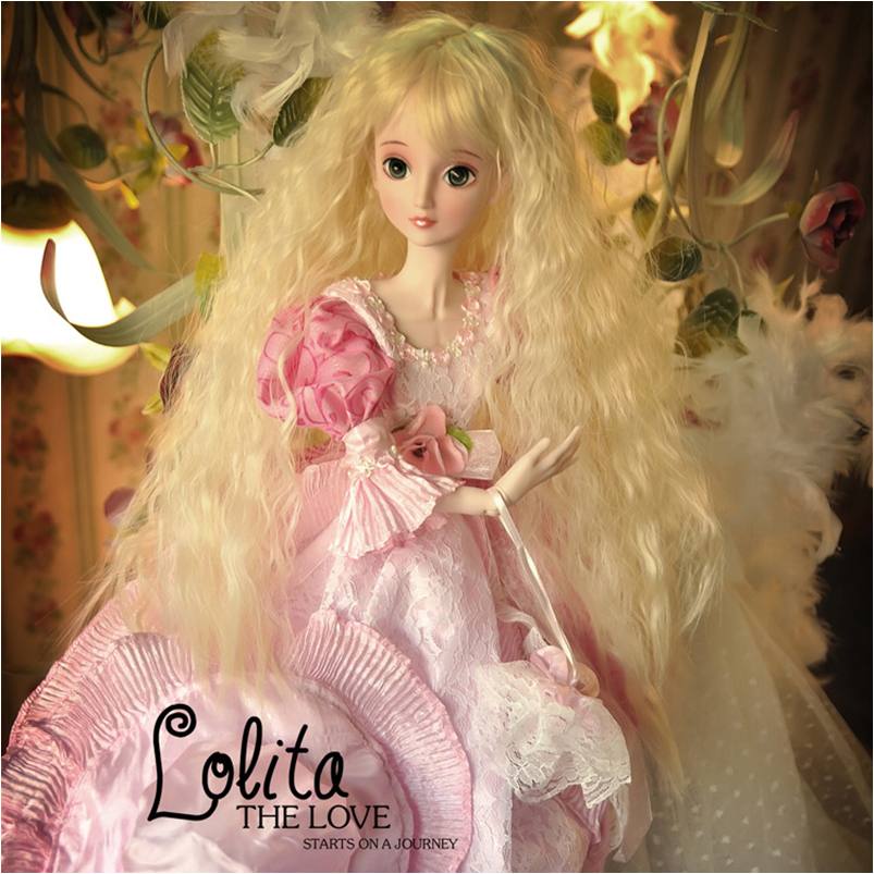 60cm Large 1/3 BJD Doll Toys Dress Wig Clothes Shoes Makeup Resin Joints Cosplay Rapunzel Princess Action Figure Toys For Girl uncle 1 3 1 4 1 6 doll accessories for bjd sd bjd eyelashes for doll 1 pair tx 03