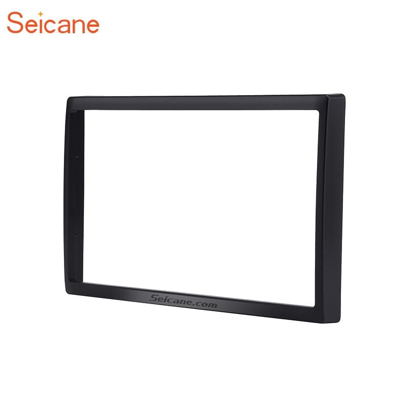 Seicane Black 178*102mm 2Din Fascias Frame Trim Kit Panel For Mazda Family 2002