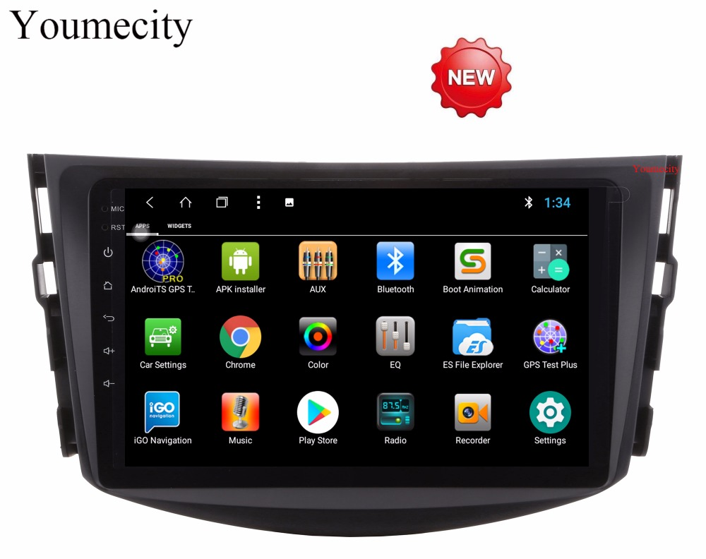 Youmecity NEW!2006-2012 1024*600 HD Screen 2Din Android 8.1 Car DVD for Toyota RAV4 Audio Video Stereo GPS Radio RDS 3G 4G Wifi