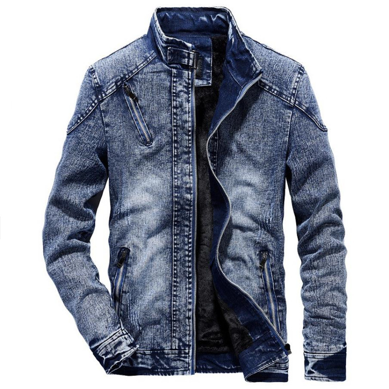 TUOLUNIU Denim Jacket men Autumn Jeans Jacket Male Slim Fit Casual outwear