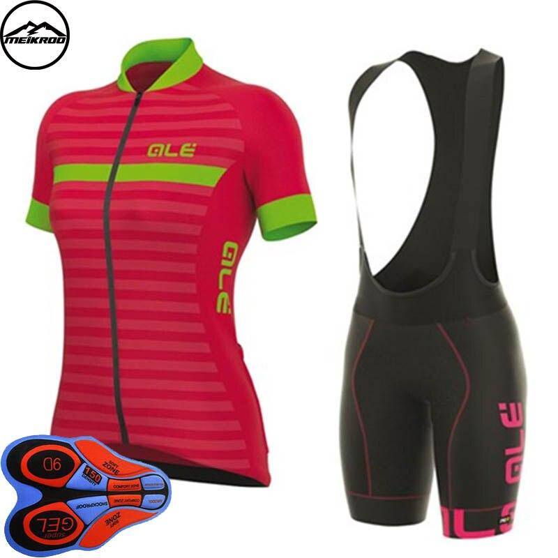 2018 команда Джерси велосипедные шорты Bib MTB Одежда женщина Рубашка с короткими рукавами Велосипедная форма гоночный велосипед спортивной Ropa ...