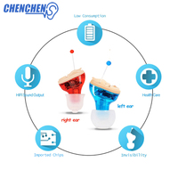 Smallest CIC Ear AIDS Micro Mini Invisible Hearing AID Inner Ear Deaf Aid Low Noise Hearing Device Digital Tone Audifono