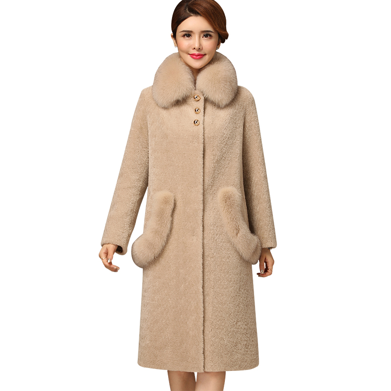Chaud Hiver Biran Trench Moderne OutwearcolorGrauSize Style Mode Coupe Revers jacke Breal Poches M Manteau Longues Double Boutonnage Femme Avant Manches TuwkiOPXZ