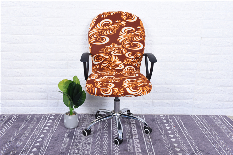Elasticity Office Computer Chair Cover Side Arm Chair Cover Recouvre Chaise Stretch Rotating Lift Chair Cover Without Chair (20)