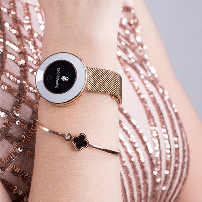 Heart Rate sports smart watch women blood pressure bluetooth 4 0 smartwatch relogio feminino reloj mujer