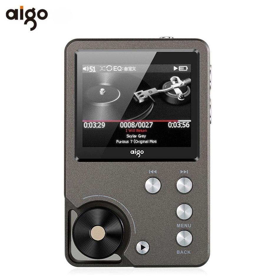 Unterhaltungselektronik Mp3-player Sporting Universal Premium Grau Aigo 105 Zink-legierung Hifi Enthusiasten Verlustfreie Musik 320x240 Auflösung 2 Zoll 1500 Mah 8 Gb Mp3 Player 100% Hochwertige Materialien