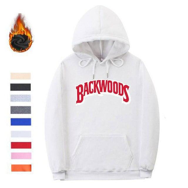 244d88fd7 US $12.95 40% OFF|New Streetwear Backwoods Hoodies Sweatshirt black white  Fashion autumn winter mens hoodies screw thread cuff hoodie pullover -in ...
