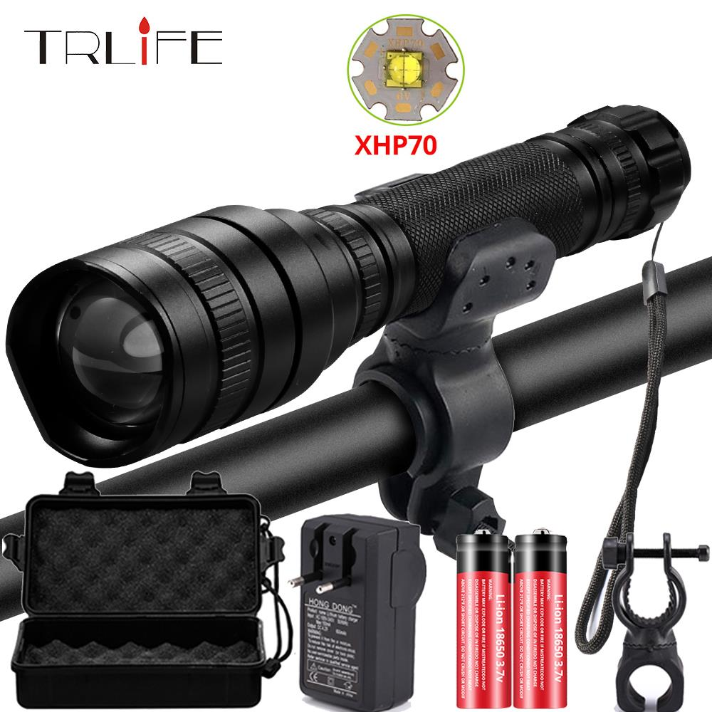 50000Lms LED Flashlight Xhp70.2 Ultra Bright Waterproof Linterna Led Torch Xhp70 Xhp50 18650 Best Camping, Bicycle Light,Outdoor