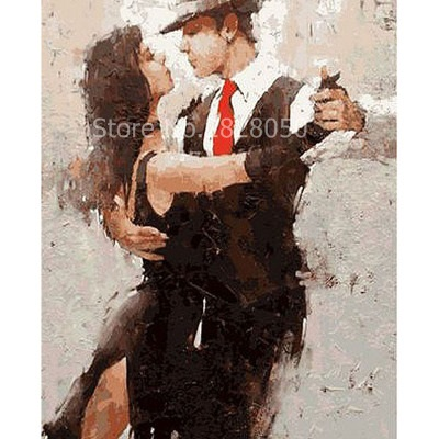Tango Men And Women Picture by Numbers Digital Oil Paint Flowers Canvas Unique Gifts Picture Home Decor Wall A Sets