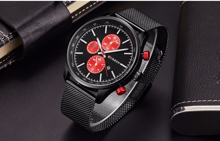 Fashion Watch men Luxury top brand steel men watch waterproof Wristwatch Men Clock quartz watch gold sports casual CURREN 8227
