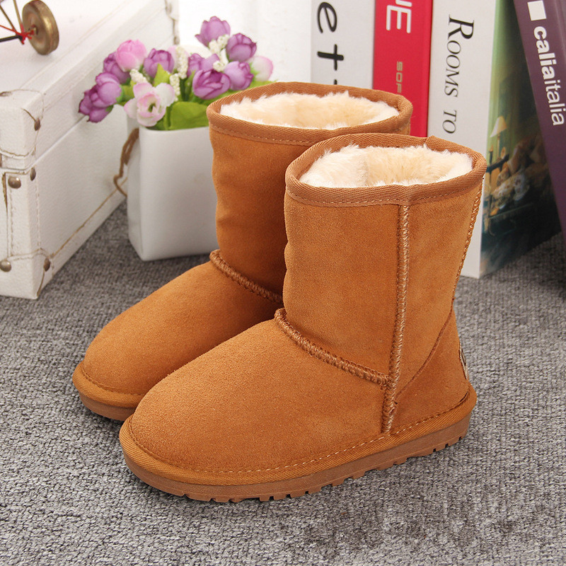 8290afb3a5b0 Australia Brand New Kids Winter Boots Genuine Leather Waterproof Winter  Children s Snow Boots Girls Warm Sale Toddler Girl Boots