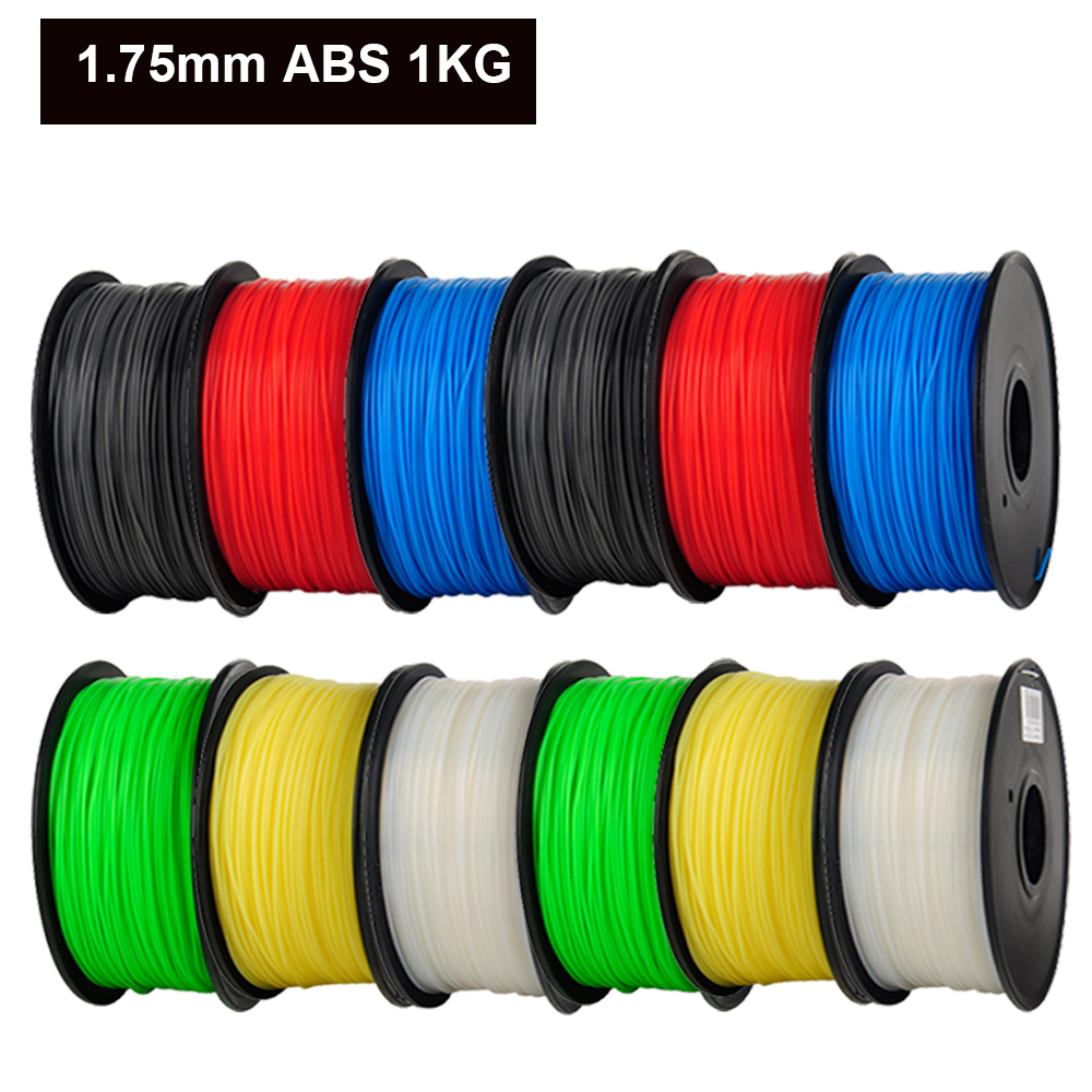 ABS 1.75mm 1Kg/spool Plastic Rod Rubber Ribbon Consumables Material Refills for MakerBot/RepRap/UP/Mendel 3D Printer Filaments abs gold filaments 1 75mm 1kg spool wanhao 3d printer