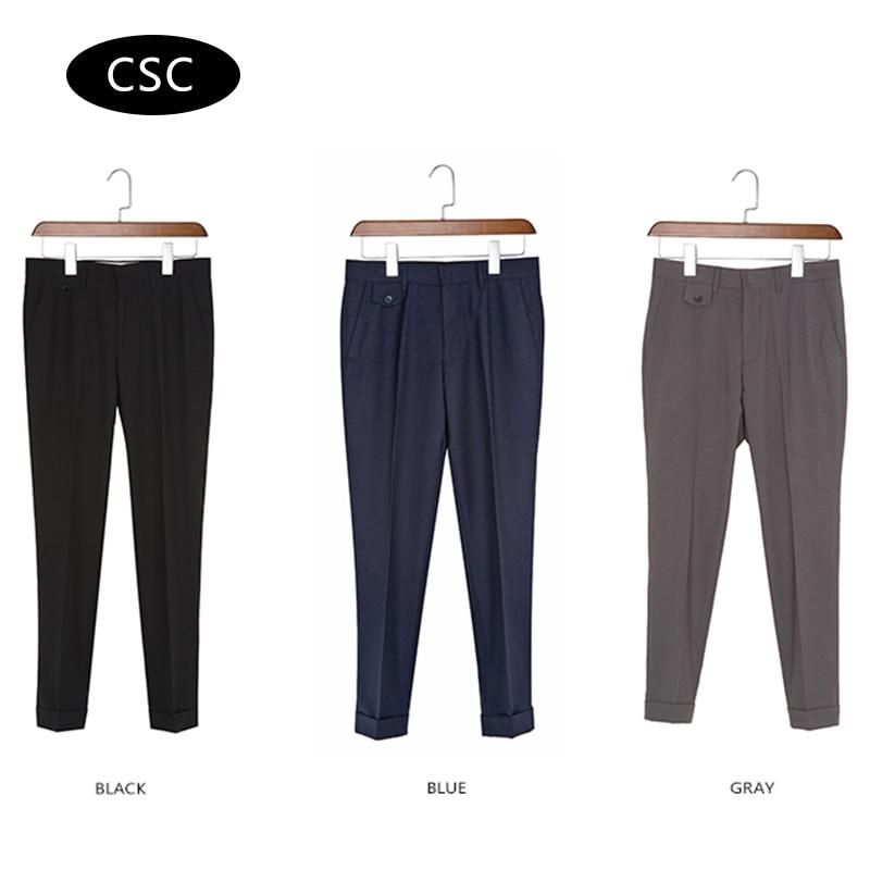 Erkek Gelinlik Suit Pantolon erkekler için 2018 moda Slim fit Parti - Erkek Giyim - Fotoğraf 6