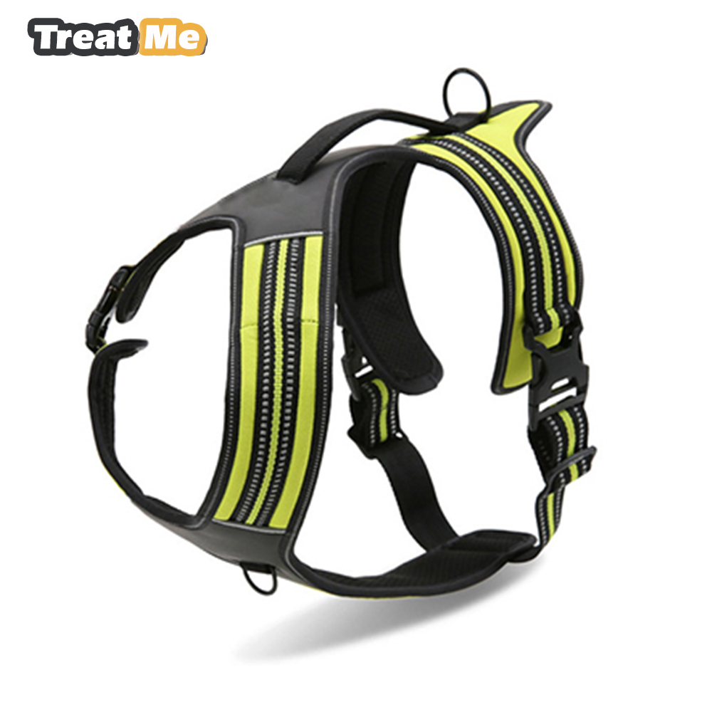 Nylon Reflective Sport Dog Protection Harness Outdoor Pet Vest With Handle xs to xl 3 colors for Large Small Dogs