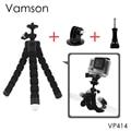 Gopro acessórios mini flexível octopustripod com parafuso adaptador de montagem para gopro hero 5 4 3 + 2 1 xiaomi yi sjcam câmera vp414